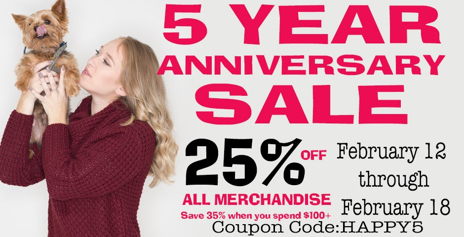 5 Year Anniversary Sale