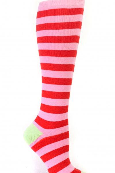 Sock It To Me Pink and Red Stripe