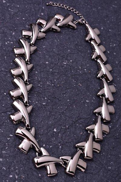 XOXO Gunmetal Necklace