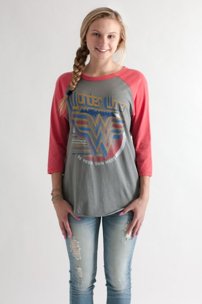 Wonder Woman Raglan by Junk Food