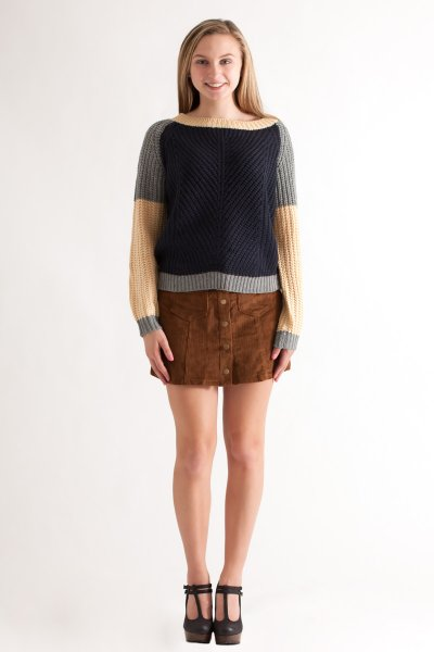 Corduroy Mini Skirt by She and Sky