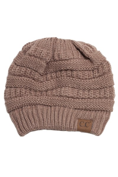 Taupe Knit Beanie by C.C.