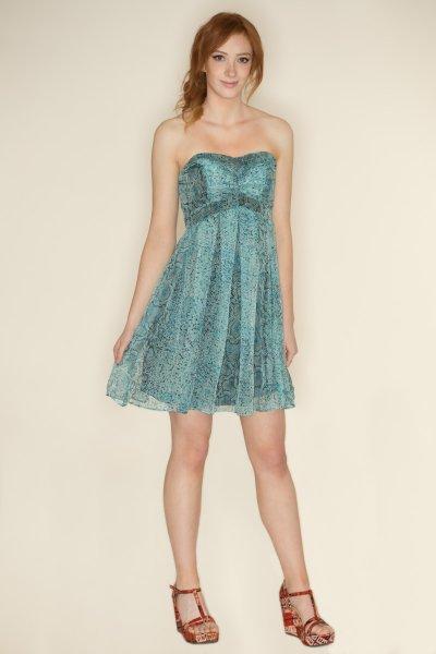 Snakeskin Print Dress by Nikibiki