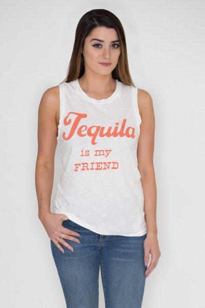 Tequila Is My Friend Tank by Junk Food