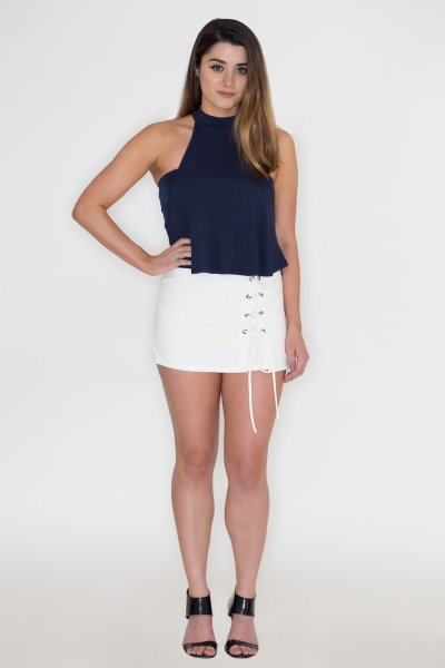 Lace Up Skort by Blue Blush