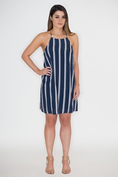 Striped Shift Dress by She and Sky