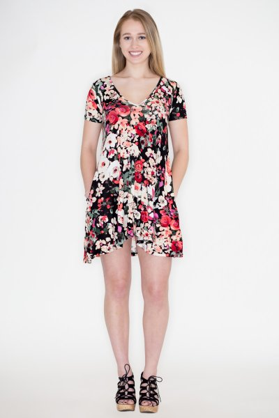 Floral Swing Dress by Cherish