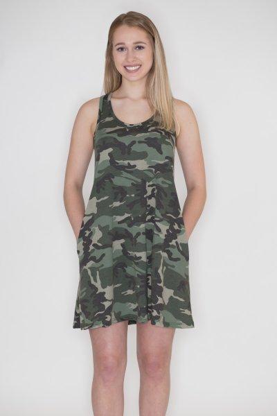Camouflage Tank Dress by Cherish