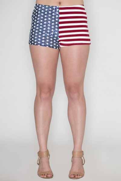Sequin American Flag Shorts