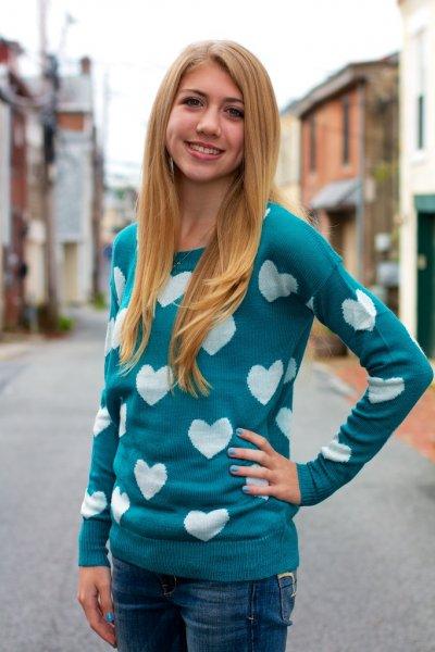 Heart Knit Sweater by Ya Los Angeles