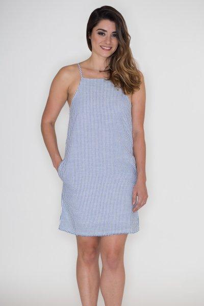 Striped Denim Dress by Very J