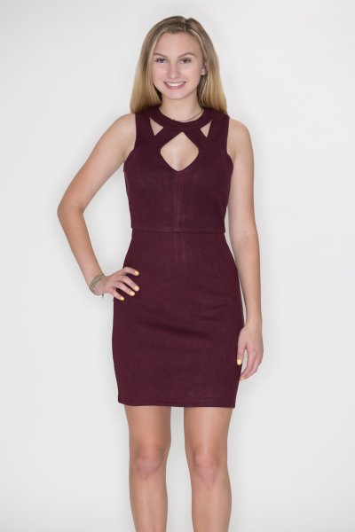 Front Cutout Bodycon Dress by She and Sky