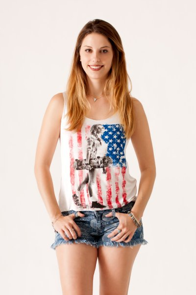 American Skater Tank by Bella D