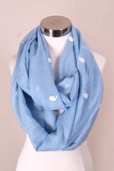 Whale Print Infinity Scarf by Love of Fashion