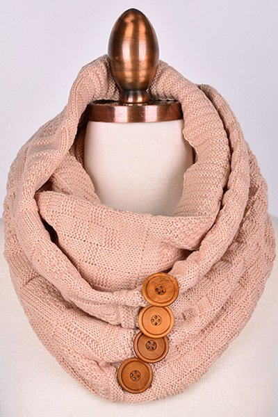 Four Button Infinity Scarf