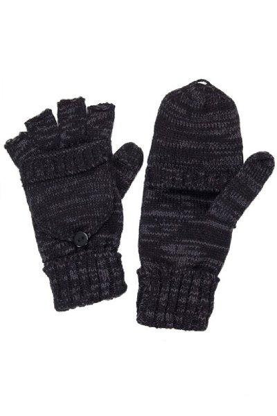 Black Convertible Fingerless Gloves by C.C.
