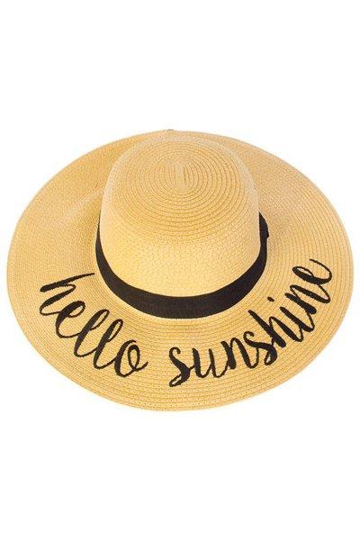 Hello Sunshine Straw Hat by C.C.