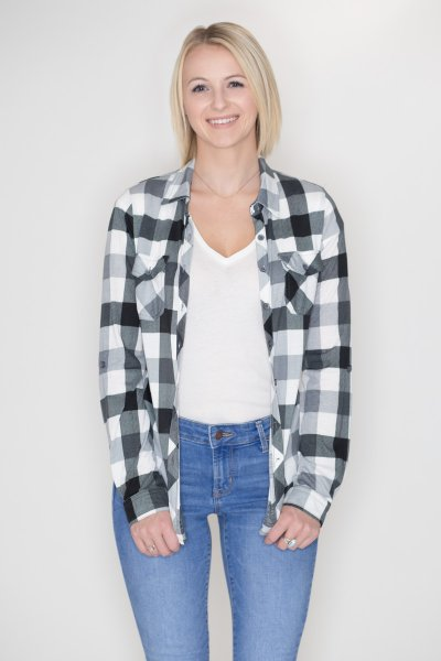 Plaid Button Down by Win Win