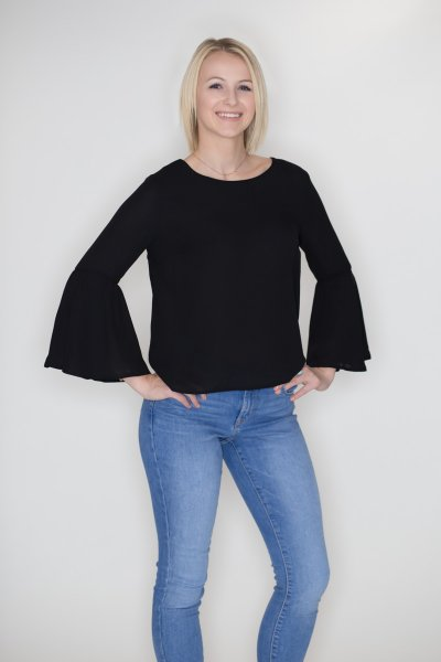 Bell Sleeve Blouse by Timing
