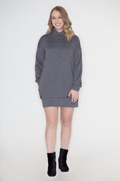 Cowl Neck Sweatshirt Dress by Cherish