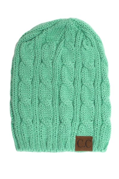 Sage Cable Knit Beanie by C.C.