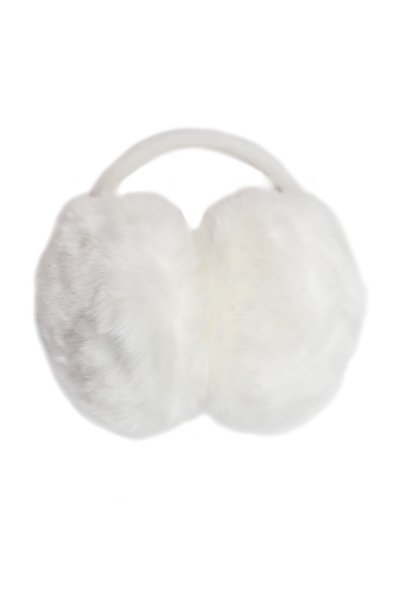 Furry White Earmuffs by Giftcraft