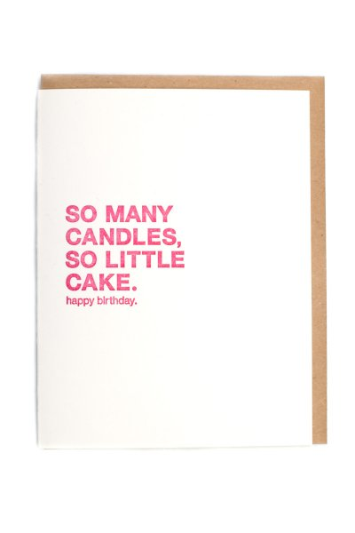 So Many Candles Card by Sapling Press
