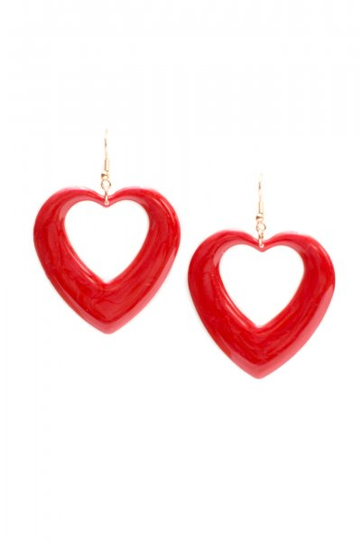 Cutout Heart Earrings by New Fashion