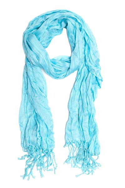 Ice Blue Crinkle Scarf by Do Everything in Love