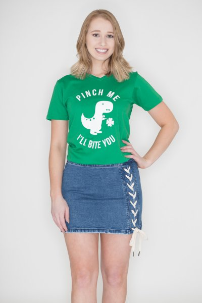 Pinch Me Dinosaur Tee by Caramelo Trend