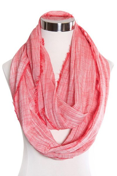 Berry Chambray Infinity Scarf by Love of Fashion