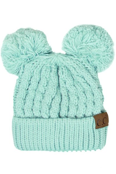 Double Pom Beanie by C.C.