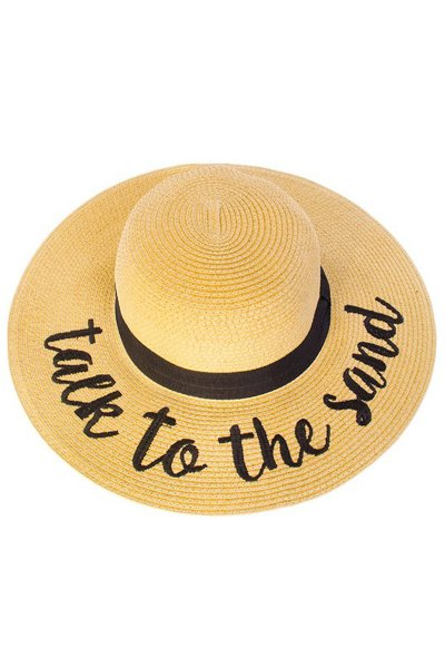 Talk To The Sand Straw Hat by C.C.