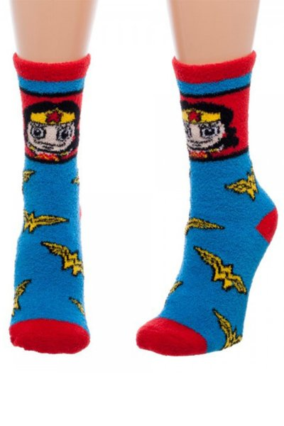 Wonder Woman Fuzzy Socks by Bioworld