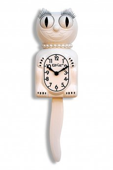 White Lady Kit-Cat Clock