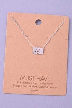 Camera Heart Necklace by Must Have