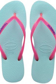 Aqua Havaianas Slim Logo Popup Sandal