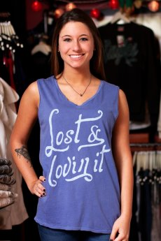 Lost And Lovin It Muscle Tank by Junk Food