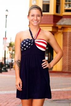 Stars And Stripes Halter Dress by 12PM by Mon Ami