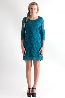 Three Quarter Sleeve Lace Dress by Win Win