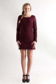 Long Sleeve Lace Dress by She and Sky
