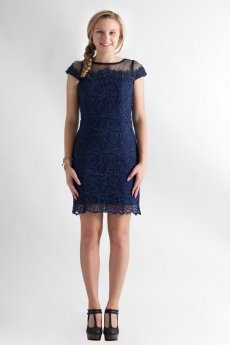 Beaded Lace Trim Dress by NikiBiki
