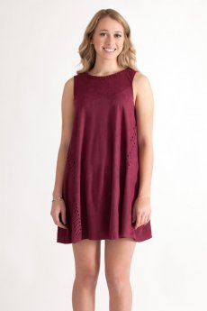 Suede Shift Dress by She and Sky