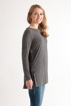 Lace-Up Side Top by She and Sky