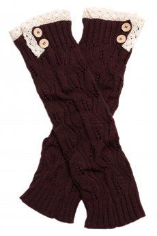 Button Cuff Leg Warmers by Bijorca