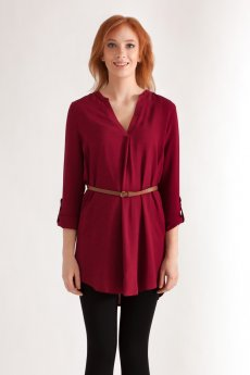 Challis Belted Shirt by Timing