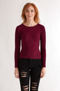 Cable Knit Sweater by Timing