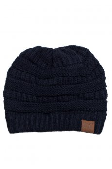 Navy Knit Beanie by C.C.