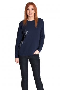 Snowflake Crew Neck Sweatshirt by May 23