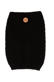 Black Button Boot Cuff by C.C.